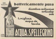 Z1237 Acqua da Tavola SAN PELLEGRINO - Pubblicità d'epoca - 1932 Old advertising