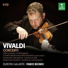 Fabio Biondi/Europa Galante-concerti COLLECTOR 'S EDITION (Vivaldi) 9 CD NUOVO
