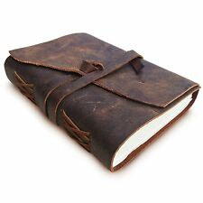 Antique Dark Brown III Leather Journal Diary (Handmade)-Leather Coptic Bound