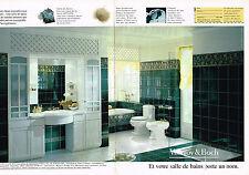 PUBLICITE  1993    VILLEROY & BOCH  salle de bain sanitaires ( 2 pages)