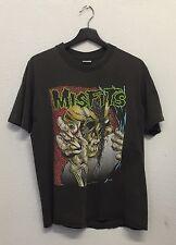 MISFITS 1990 VINTAGE PUSHEAD EVIL EYE EARTH A.D METAL PUNK TOUR CONCERT T-SHIRT