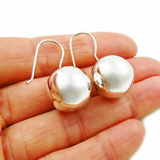 Sterling 925 Taxco Silver Ball Bead Drop Earrings