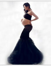 Black Strapless Long Dress Sexy Pregnant Photo Props Maternity Clothes, NEW