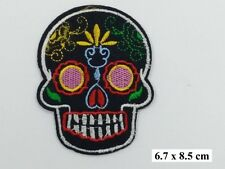 Skull Tattoo  ,EMBROIDERED Iron on/Sew on  PATCH