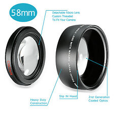 Neewer 58MM 0.43X Professional HD Wide Angle Lens with Macro Portion UD#20