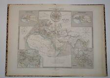 Atlas Mulat grand in-folio couleur 1856 1861 - cartes et Mappemonde - Rare