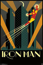 Marvel Comics Art Deco Series IRON MAN TONY STARK Official Wall Poster