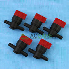 "5x 1/4"" InLine Straight Fuel Gas Cut-Off / Shut-Off Valve Petcock Motorcycle"