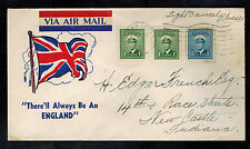 1945 Glenn Falls BC  Canada Patriotic cover to New Castle IN Always Be a England
