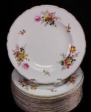 """Royal Crown Derby 9875 Set of 10 Luncheon Plates - 9 1/8"""" Wide"""