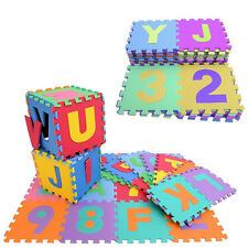 36pc Soft EVA Foam Baby Children Kids Play Mat Alphabet Number Puzzle Jigsaw New