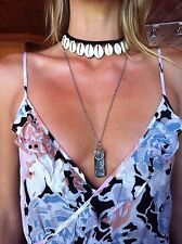 Choker Cowrie Shell Pendant Necklace Macrame Surf Jewellery SouthernSandStar Oz