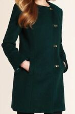 M&S Autograph New Wool Rich Collarless Coat, BNWT, Teal, SZ12, Was £99