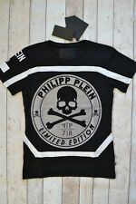 BNWT PHILIPP PLEIN 'UNLIMITED' T-SHIRT BLACK SIZE LARGE SKULL & CROSSBONES 2016