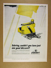 1969 Starcraft Competition 440 Snowmobile color photo vintage print Ad