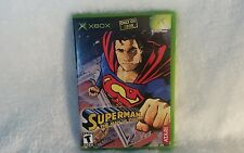 Superman: The Man of Steel (Microsoft Xbox, 2002) Complete FREE SHIPPING