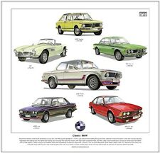 CLASSIC BMW - FINE ART PRINT - 2002 Turbo Touring M535i 507 - German Saloon Cars