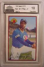 1989 Bowman #220 Ken Griffey Jr Rookie Baseball Card Capitol Gem Mint 10