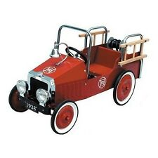 NEW KIDS VINTAGE STYLE RIDE ON METAL TOY CLASSIC STEEL PEDAL CAR FIRE ENGINE
