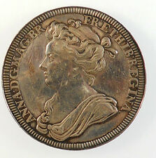 1702, England. OFFICIAL CORONATION MEDAL OF QUEEN ANNE. By Croker.
