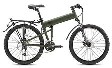 "Montague (2016 ) Paratrooper 18"" Mountain Folding Bike w Free Pedals"