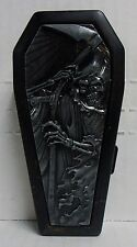 Coffin Biker Metal Cigarette Case, Black, Grim Reaper/Death, BRAND NEW