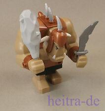 LEGO - Riesen Troll mit Keule hellgrau und Schwert silber / cas358 60674 NEUWARE