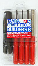 Tamiya 74023 Craft Tools - Screwdriver Set (8 Pcs.) Builder's 8