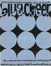 FILMORE ERA Electric Theatre BLUE CHEER Chicago HANDBILL 1968