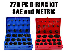 SAE & Metric Rubber O-Ring Washer Assortment Kit Automotive Oring - 779 PCS