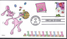 EASTER  RABBIT   EGGS       FDC- DWc  CACHET