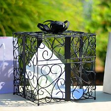 Black Wedding Reception Gift Card and Money Box Holder