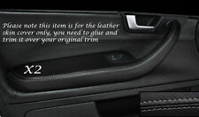 GREY STITCH 2X FRONT DOOR HANDLE ARMREST COVERS FITS AUDI A4 B7 2004-2008