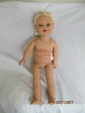 "18"" Madame Alexander blonde hair blue eyes doll no clothes"