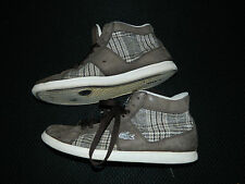 Lacoste Observe Tartan B18 Grey Plaid Size 8.5 Pre-Owned