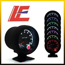 "3.75"" 95MM ELECTRICAL TACHOMETER GAUGE /AUTO GAUGE BLACK FACE 7 COLOR"