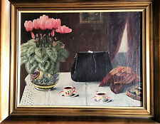 OIL PAINTING Old Surrealism Continental school EARLY 1900's  otto beniser listed