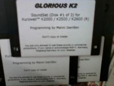 KURZWEIL ~ GLORIOUS K2 ~ VAST PROGRAMS ~ 3 DISK SET!