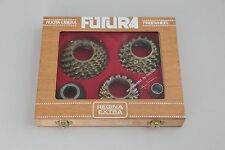 Regina Futura freewheel set in a wooden box with tool NOS Made in Italy