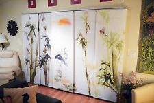 Original Art - Painted Sliding Curtain Panels For Ikea Track Systems - Designer
