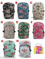VINTAGE FLORAL RUCKSACK Backpack Flowers School College Uni Gym Bag Emo Goth