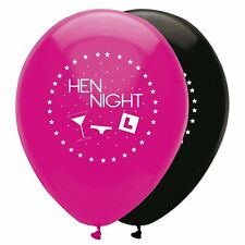 HEN NIGHT BALLOONS COCKTAIL GLASS PRINT HEN NIGHT ACCESSORIES X6 HEN BALLOONS