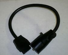 """Trailer Light Wiring Round 7-Way to 5-Flat Female Adapter Pigtail Plug 18"""" L"""