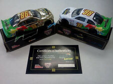 1998 DAYTONA AT THE SPEED OF LIGHT  2 GOLD CHROME DIE CAST STOCK CAR SET NASCAR