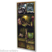 Halloween Horror FOOD FRIGHT Fridge Plastic Door Poster Banner Party Decoration