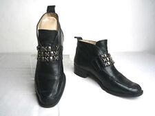 Bottines Boots SAN MARINA Cuir Noir Doublées Cuir T 36 BE