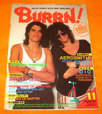 BURRN! 11/1985 JAPAN Angel Witch Saxon IRON MAIDEN KISS JUDAS PRIEST DIO AC/DC