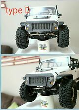 Axial scx10 jeep rubicon body angry bird grill mash front bumper crawler scale