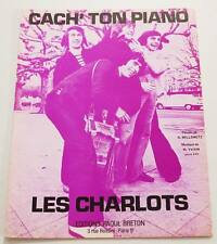Partition sheet music LES CHARLOTS : Cach' Ton Piano * 70's