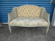Cane Settee Sofa French Provincial Loveseat Bench Canape Louis XVII Italian STY